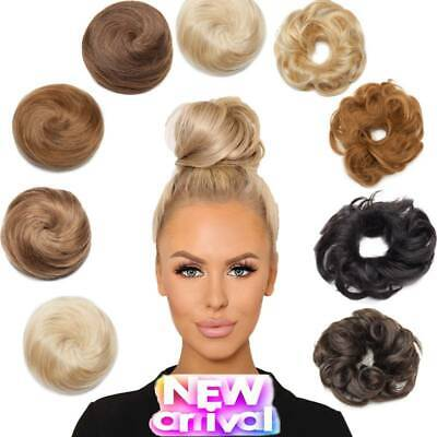 £16.29 • Buy UK Real REMY Human Hair Thick Messy Bun Hair Piece Scrunchie Updo Wrap Band Pony