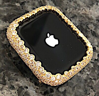$ CDN80.16 • Buy  Series 2/3 42mm Yellow Gold LabDiamond Apple Watch Bezel Case Cover Metal Bling