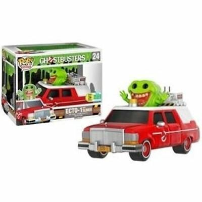 Funko POP! Rides: 2016 SCCE Ghostbusters Ecto-1 With Slimer #24 Toy • 50.14£