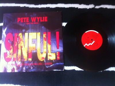PETE WYLIE / THE FARM - SINFUL - 12  SINGLE VINYL RECORD The Mighty Wah! • 6.99£