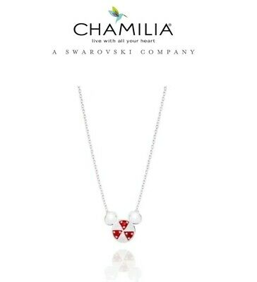 £59.99 • Buy CHAMILIA 925 Silver Disney Peppermint MICKEY MOUSE  NECKLACE RRP £75