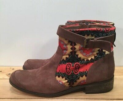 £21.25 • Buy Desigual Mas-2 Women's Brown Riding Leather Ankle Boots US Size 9.5