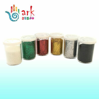 £5.99 • Buy Glitter Shaker Tubes For Crafts  - Assorted Colours (Set Of 6 Colours )