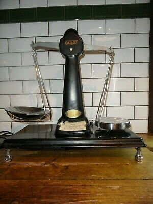 Rare W&t Avery Vintage Cast Black & Chrome Original Sweet Shop Counter Scales • 200£