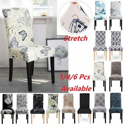 AU22.99 • Buy 4/6 PCS Dining Chair Seat Covers Spandex Cover Stretch Wedding Banquet Party AU
