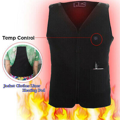 $12.35 • Buy Electric USB Vest Jacket Clothes Liner Heating Pad Heater Winter Thermal Warming