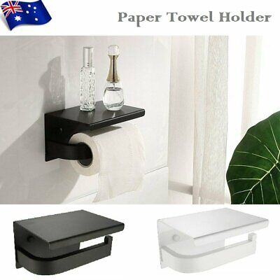 AU25.89 • Buy Stainless Steel Toilet Paper Roll Holder Bathroom Tissue Wall Mount Storage Hook
