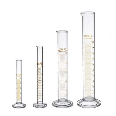 £6.92 • Buy Thick Glass Graduated Measuring Cylinder Set 5ml 10ml 50ml 100ml Glass