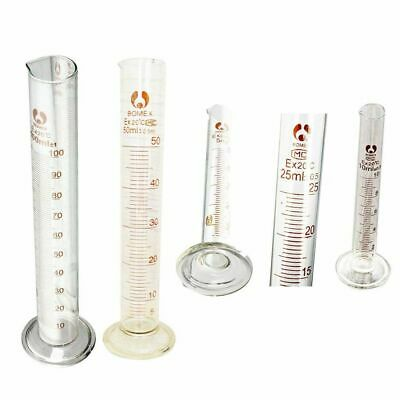 £3.10 • Buy Graduated Glass Measuring Cylinder Chemistry Laboratory Measure LW