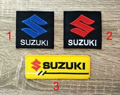 $6.50 • Buy Suzuki Iron On Embroidered Patch Motorcycle Racing Bikers Sport