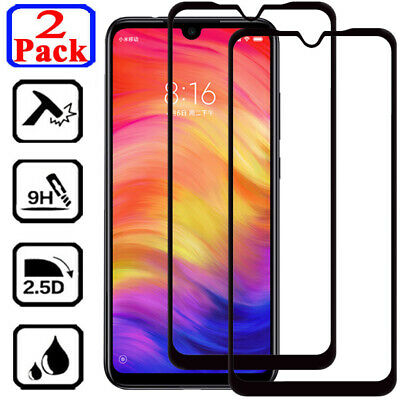 $0.76 • Buy 2X Full Cover Tempered Glass Screen Protector For Xiaomi Redmi Note 6 7 8 Pro 8T