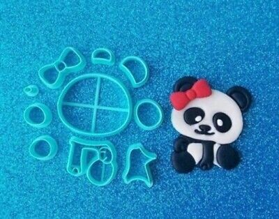 Panda Cub Cute Bow Cookie Cutters 3DPrinted High Quality Cake Cupcake Decoration • 7£