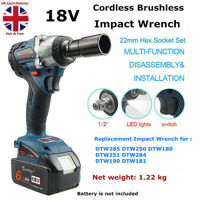 Replacement Cordless Impact Wrench For Makita DTW285Z 18V Brushless 1/2  4 Speed • 58.69£
