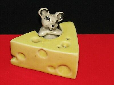 $20 • Buy Vintage Ceramic Arts Studio Cheese And Tiny Mouse Salt And Pepper Shakers