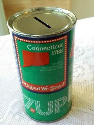 AU11.46 • Buy Vintage 7-up Connecticut Soda Can Bank  * Bicentennial 1976 Steel Can *