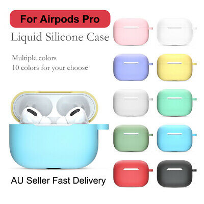 AU5.65 • Buy Nature Silicone Case For Apple AirPods Pro Protector Case Cover Skin 10 Colors