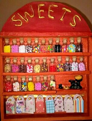 Dolls House Sweet Shop. 10 X Assorted Sweet Jars 1/12 Scale (stand Not Included) • 20£