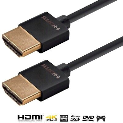 $14.11 • Buy 0.5FT HDMI Ultra Slim Cable W/ Ethernet HDTV 1080p 4K 3D ARC XBOX BLURAY Gold