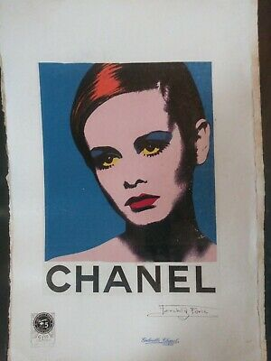 $135 • Buy Twiggy, CHANEL... Limited Edition Print 22'x15'x. Hand Signed By Fairchild Paris