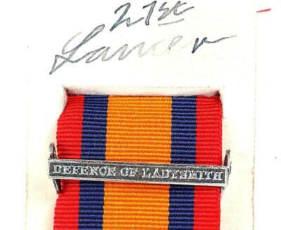 AU15.12 • Buy Qsa Queens South Africa Medal Ribbon Bar Clasp Defence Of Ladysmith Boer War