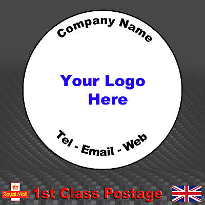 £3.55 • Buy 100 Round Personalised Business Stickers - Printed Logo, Email, Address Labels