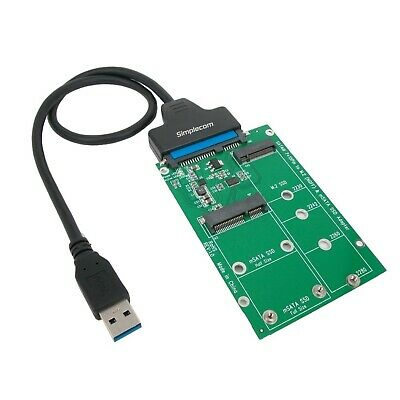 AU39.20 • Buy Simplecom SA221 USB 3.0 To MSATA + M.2 SSD 2 Adapter