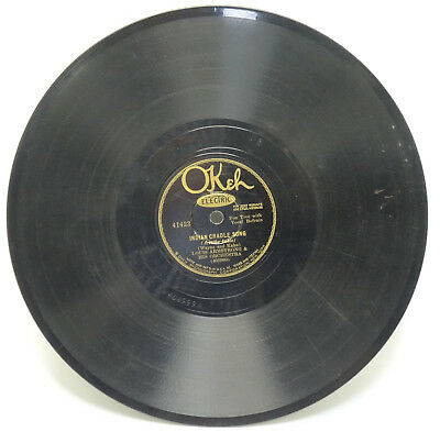 78 RPM OKEH RECORDS LOUIS ARMSTRONG EXACTLY LIKE YOU - INDIAN CRADLE SONG 232g • 29.99$