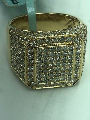 $2500 • Buy 14k Mens Diamond Ring With 3.53 Ct And 11 Grams