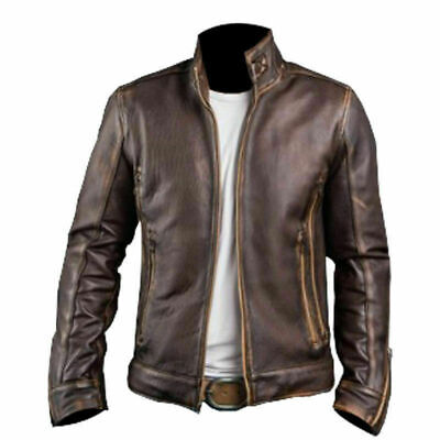 XMen Wolverine Cafe Racer Vintage Motorcycle Distressed Brown Leather Jacket • 59.10£