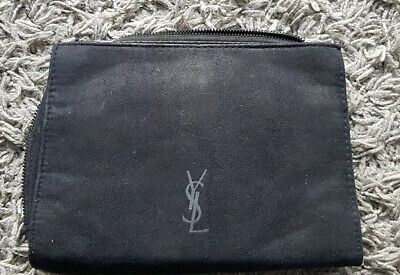 YSL Toiletries Bag Black Suede Feel 2 Sections Plus Mirror  • 9.99£