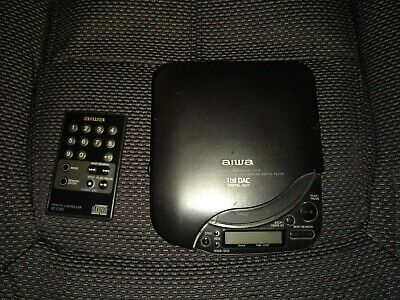 Aiwa XP-6 XP6 Portable CD Player Black DSL Made In Japan Very Good Condition • 149.99£
