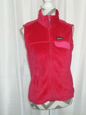 PATAGONIA High Loft Polartec Vest Fuchsia Fleece Thermal Pro Women's Med Re-Tool • 35.50$