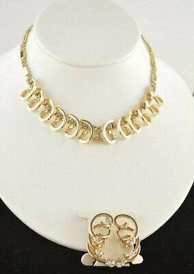 Vintage 1955 SAC Sarah Coventry Celestial Fire Rhinestone Necklace & Earring Set • 9.99$