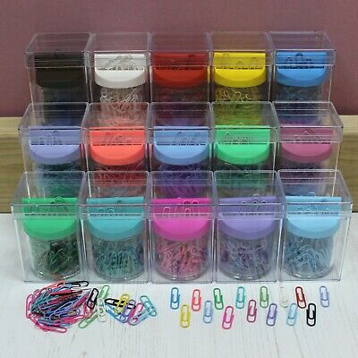 £5.15 • Buy Magnetic Top Paper Clip Dispenser With Clips In 15 Coloured Options & Case