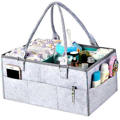 £8.95 • Buy Baby Diaper Organizer Caddy Changing Nappy Kids Storage Carrier Bag Large Pocket