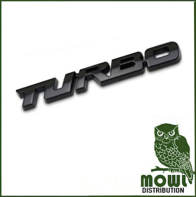 £4.97 • Buy Black 3D Car Styling Sticker Metal TURBO Badge Body Tailgate Badge Ford Vauxhall