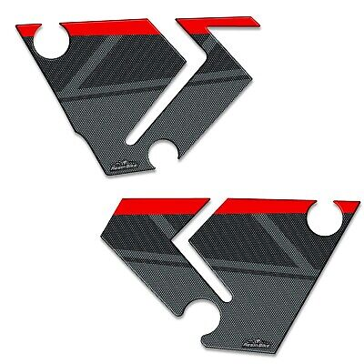 AU66.79 • Buy Stickers 3D Guards Side 04 Compatible With Yamaha Tenere 700 2019 Red