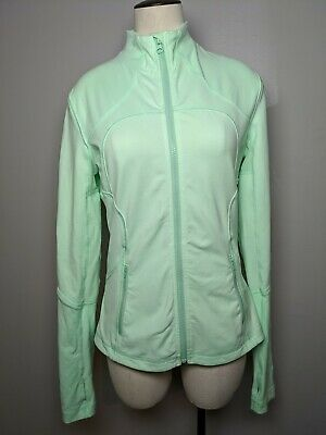 $ CDN67.50 • Buy Lululemon Forme Jacket Size 8 Fresh Teal Full Zip Thumbholes