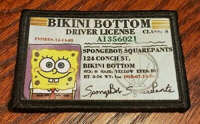 $7.99 • Buy  SpongeBob Squarepants LICENSE Funny Morale Patch Tactical ARMY Military