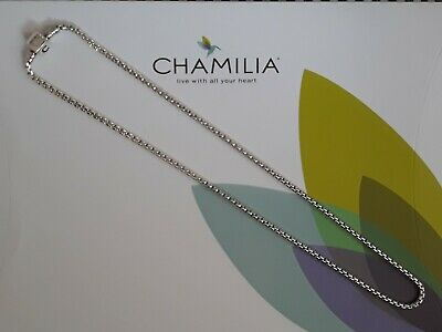 £69.99 • Buy Genuine, CHAMILIA 925 Silver Box Snap NECKLACE Charm, 22 Inches RRP £120