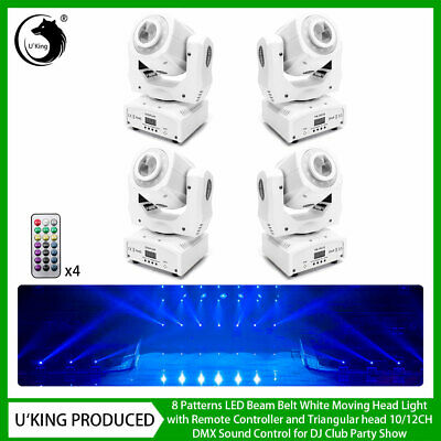 £389.99 • Buy 4X 80W Pattern Gobo Moving Head LED Stage Light Remote DMX Disco Club Party Show