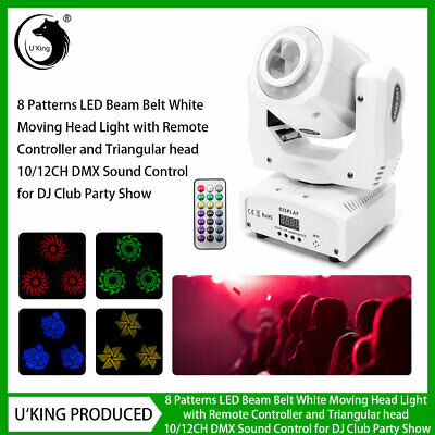 80W Pattern Moving Head LED Gobo Stage Light Remote DMX DJ Club Party Show Disco • 81.99£