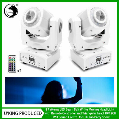 2X 80W Pattern Moving Head Gobo Stage Light LED Remote DMX Show Disco Club Party • 162.99£