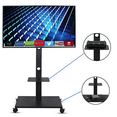 £53.95 • Buy Portable Mobile TV Stand Trolley Cart Mount For 32 -70  Plasma LED School Office