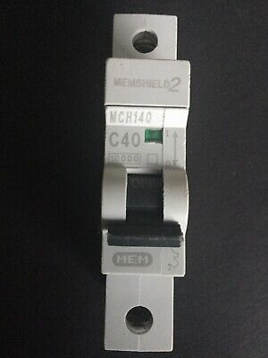 16A 6A  Type C 32A 40A 20A MEM//Eaton//Bill  Memshield 2 Single Pole MCB 63A
