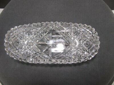 Cut Glass ABP Signed Libbey Small Tray Antique  • 49$