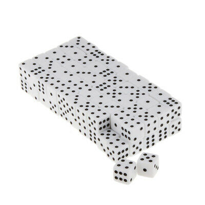 AU21 • Buy 100x Six Sided Dice D6 Spot Dices For Board Game Toys DND Game Math Teaching
