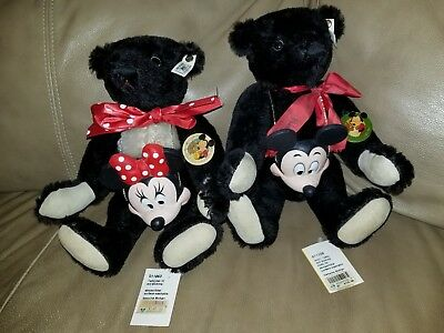 $1199.99 • Buy STEIFF Convention Bears 1991 MICKEY & 1992 MINNIE MOUSE Limited To 1,500  RARE!!