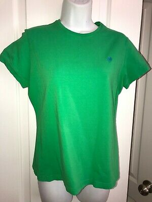 LILLY PULITZER Womens Size Medium Green Short Sleeve Pima Cotton Blend T-Shirt  • 3.75$