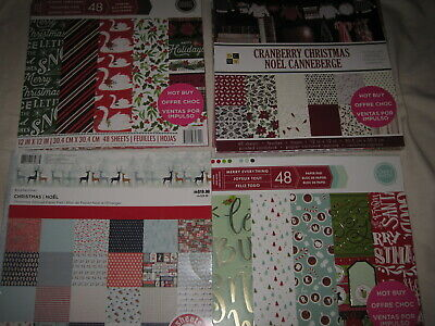 $40 • Buy 12x12 Scrapbook Paper Christmas Stack Pads Lot Over 8 Pounds